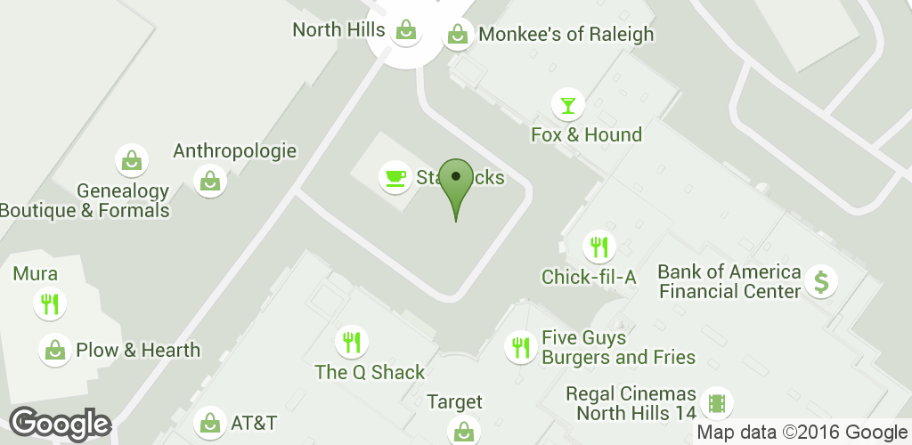 Map for Midtown Raleigh Farmers' Market